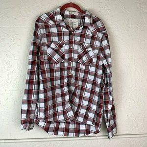 American Eagle Vintage Fit Shirt Mens L Red Plaid